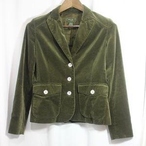 Eddie Bauer Velvet jacket size 4